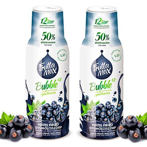 Frutta Max Getränkesirup Frucht-sirup Konzentrat | Johannisbeere Geschmack | weniger Zucker | mit 50% Fruchtanteil | für Soda Maschine geeignet 2erPack(2x500ml)