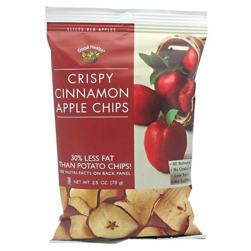 Good Health Apple Chips, Crispy Cinnamon 12- 2.5 oz (70g) by Good Health