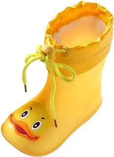 Cinhent Raincoat Shoes Infant Kids Children Yellow Duck Rubber Waterproof Boots