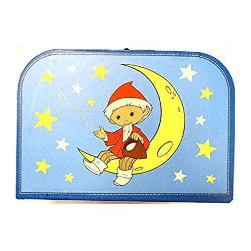 "Kinderkoffer 16302 \""Sandmann auf dem Mond\"" blau gross 30 cm"
