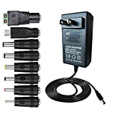 SZYSK 30W 2V-24V 1.2A Universal AC/DC Adapter Switching Power Supply with 8 Selectable Adapter Tips & Micro USB Plug, for 2V to 12V Household Electronics and LED Strip  1.5A Max