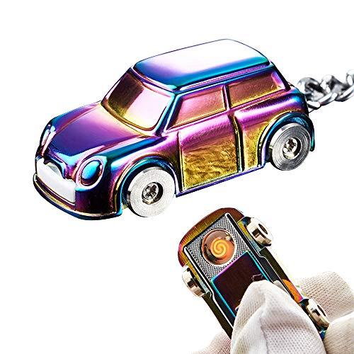 ygmoner USB oplaadbare winddichte spoel auto sigaret aansteker sleutelhanger Multi kleuren