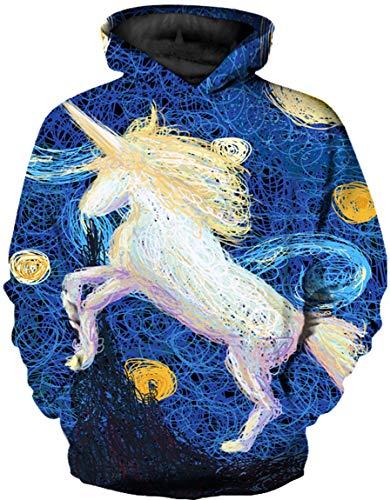 Ocean Plus Niño Manga Larga Galaxia Sudaderas con Capucha Vistoso Casual Sudaderas Suéter Camisa con Capucha para Niños