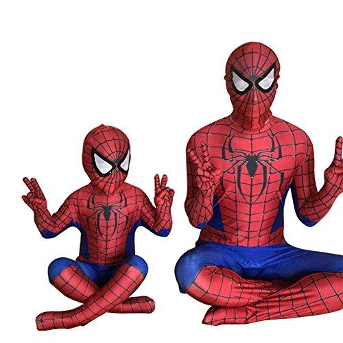 スパイダーマン 全身タイツ 弾力と伸縮性あり ライクラ 赤 子供用 大人用 170-180cm コスチューム コスプレ衣装  仮装 変装 誕生日 プレゼント ハロウィン イベント