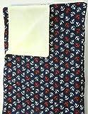 Babydecke - ROTE UND WEISSE ANKER - 100 x 70 cm - Baumwolle und Fleece - personalisierbar - Kuscheldecke/Krabbel-Decke für Bett oder Kinderwagen - Geschenk Geburt Taufe Geburtstag
