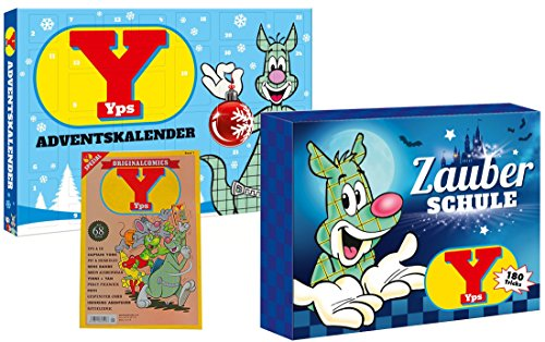 Triple A Toys Adventskalender Yps und Zauberschule Yps, Zauberkoffer sowie GRATIS Comic