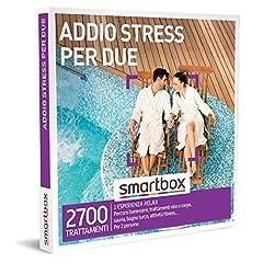 Idea Regalo - smartbox - Cofanetto Regalo Coppia - Addio Stress per Due - Idee Regalo Originale - 1 Esperienza Relax per 2 Persone