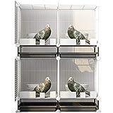 KUANDARM Jaulas Grandes para Palomas para Uso Doméstico Los Cobertizos para Pájaros Combinados con Hierro Se Pueden Agrupar Y Emparejar, White 75 * 35 * 96cm