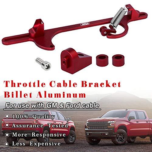 PQY Throttle Cable Bracket for 4150 4160 Carburetors Billet Aluminum Anodized Red