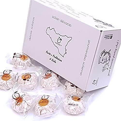 Paste di mandorla siciliane al ciocco-arancia (box gr.400). RAREZZE: cannoli e cassate da antica pasticceria artigianale .