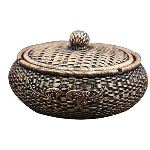 N / A Cenicero Creativo de bambú Viento étnicos casa Retro Tendencia multifunción con el Plan de adornar el hogar,si