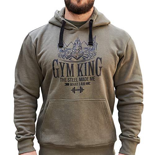 Gym King Gym Hoodie Kapuzenpullover Bodybuilding Fitness Wear (S)