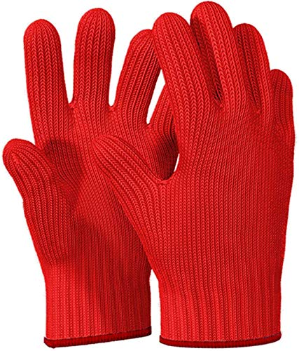 Killer's Instinct Outdoors 1 Pair Heat Resistant Gloves Oven Gloves Heat Resistant with Fingers Red...
