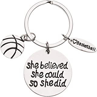 Infinity Collection Basketball Keychain- Basketball Gift- Basketball Jewelry for Girls, Perfect Basketball Gift for Players & Coaches