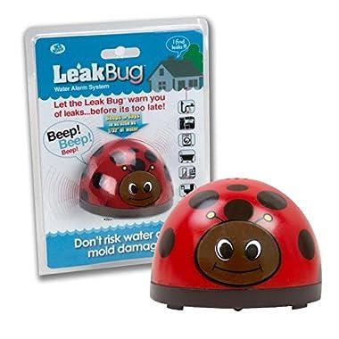 Water Alarm- Leak Bug Flood Detector detects as little as 1/32 Inch of Water- Electronic Overflow Alert Sensor Beeps When Battery is Low