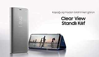 Samsung Galaxy S8+ Clear View Standing Cover - Blue, EF-ZG955 (EF-ZG955CLEG)