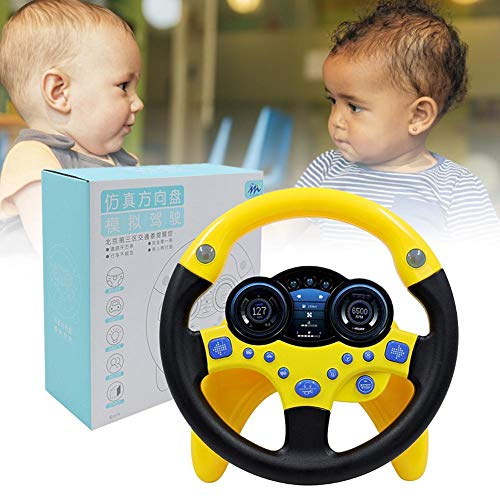 Volante de conducción para niños con luz, juguete de aprendizaje musical para niños divertido juguete para niños con varios sonidos de conducción