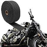 ShopXJ バイク マフラー 耐熱布 断熱 バンテージ ガード セラミックファイバー (5m)