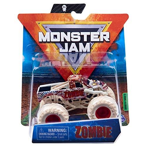 2020 Spin Master 1:64 Diecast Truck con correa: Bone Yard Trucks Zombie