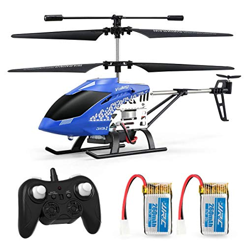 INKPOT JJRC JX01 RC Helicopter 3.5 Canales Altitude Hold Helicopter con Gyro 2.4GHz y luz LED para Interior RTF Resistencia a choques Mini helicóptero RC Toy Gift para niños y Adultos (Azul)