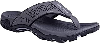 Sport Flip Flops for Mens Wide Hiking Thong Sandals Outdoor with Arch Support Waterproof Indoor Beach Boating Walking Shoes
