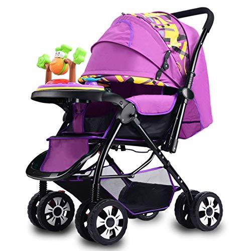 CAIM kinderwagen/buggy, draagbaar, met twee vakken, inklapbaar, met schokdemper, design met muziektablet, paraplu voor kinderwagens
