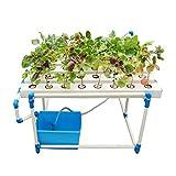 ZDYLM-Y Kit de Cultivo hidropónico, 48 sitios de Plantas 6 Tubos Sistemas de Cultivo hidropónico, tubería Rectangular de PVC, Bomba de Agua Ultra silenciosa
