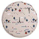 levoberg funda de taburete redondo en algodón fondo antideslizante cojín taburete de Bar 33cm, algodón, #1, 33cm