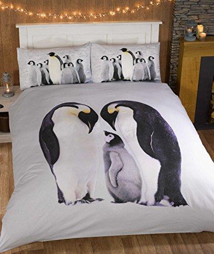 Pinguine 100% Baumwollflanell Thermo-Bettwäsche Set Bettbezug Doppelbett von So Soft