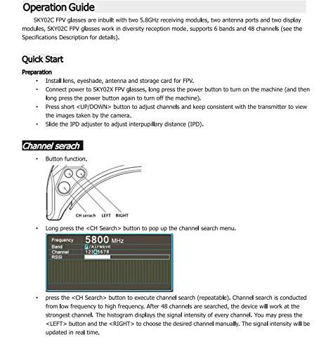 DishyKooker Ferngesteuerte Luftfahrzeuge Drohnen Sky-Zone SKY02X Vielfalt FPV Brille Unterstützung 2D / 3D HDMI Kopf Tracking Mit Fan DVR Frontkamera Für RC Racing Drone White