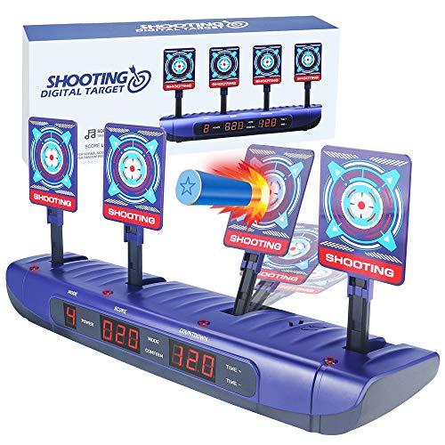 Nerf Objetivo Electrónico para Pistolas Nerf, Restablecimiento Automático , Apto para Nerf N-Strike Elite / Mega / Rival Series,Juguetes Niños 5 6 7 8 9 10 11 12 Años para Regalos Navidad Cumpleaños