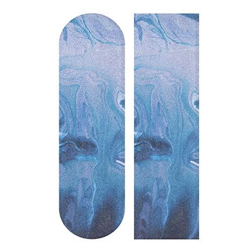 BEUSS Mármol De Piedra Oscura Skateboard Griptape Antideslizante Autoadhesivo Longboard Griptapes Pegatinas de Agarre(84 * 23cm 1pcs)