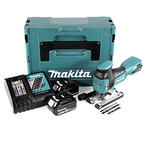 Makita DJV 181RFJ 18V Batería de ion de litio para sierra de calar en Makpac BL 1830con batería y cargador