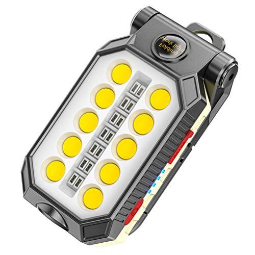 Kohyum - Lámpara de trabajo LED con imán recargable linterna taller lámpara portátil para reparación de coches, taller, garaje, camping, iluminación de emergencia
