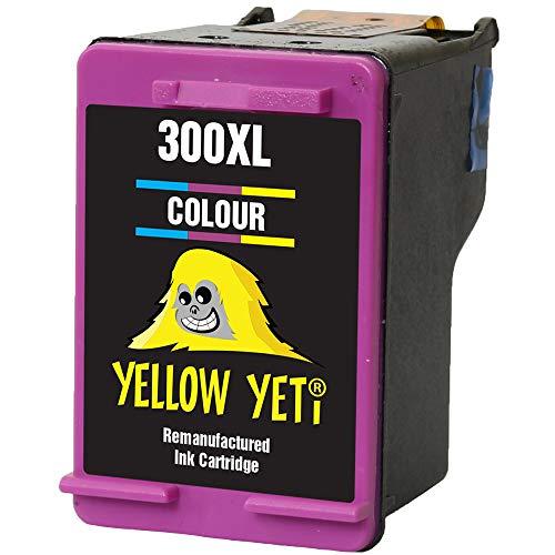 Yellow Yeti Remanufacturado 300XL 300 XL Cartucho de Tinta Color para HP Deskjet D1660 D1663 D2530 D2545 D2560 D2660 D5560 F2420 F2480 F4210 F4240 F4272 F4280 F4580 F4583 Photosmart C4780 C4680