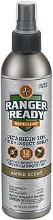 Ranger Ready Picaridin 20% Tick + Insect Repellent Fine Mist Spray | Amber Scent | 235ml (8.0oz)