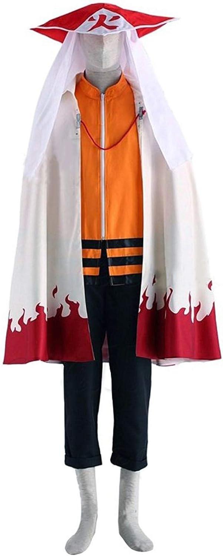 Karnestore Uzumaki Naruto Outfit Cosplay Kostüm Herren XXL