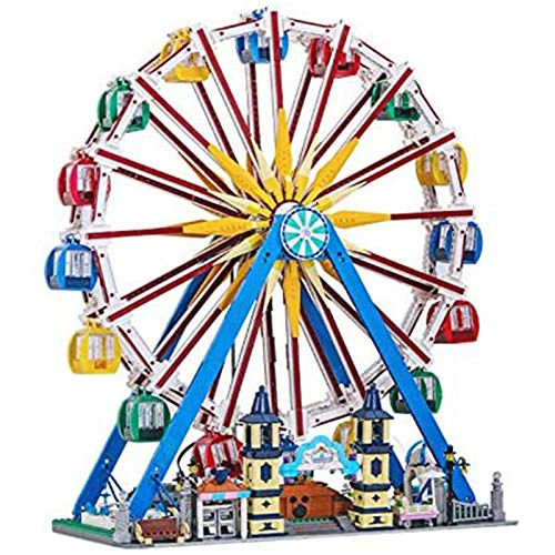 Noria Gigante Modelo Con Luces Y Música, Mando A Distancia Y Motor, 3836 Piezas De Construcción Ferris Wheel Bloque De Montaje Juego Compatible Con Lego,El Modelo De Construcción No Es Creado Por Lego