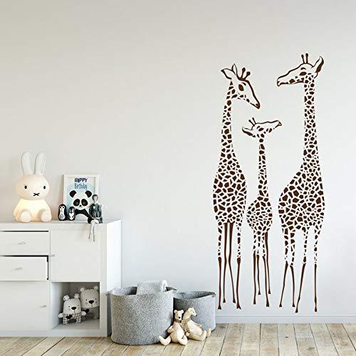 yaonuli Giraffe muurtattoo vinyl muursticker patroon hoofddecoratie voor kinderkamer