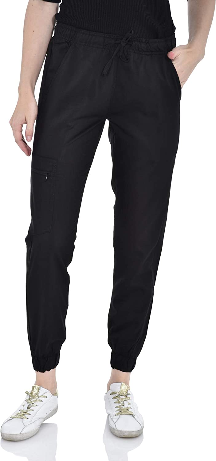 Marilyn Attention brand store Monroe Stretch Jogger Scrubs Pants Side Pock with Zipper