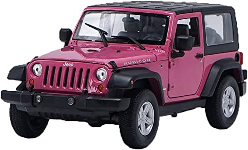 Maisto 1 24 jeep wrangler auto modell simulation legierung auto modell kinder spielzeugauto sammlung dekoration Simulation Miniaturmodelle Fahrzeuge (Farbe   Rosa)