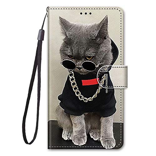 Samsung Galaxy A72 5G Case, 3D Shockproof Premium PU Leather Shock-Absorption Notebook Wallet Phone Cases with Magnetic Kickstand Card Holders Bumper Flip Protective Cover for Samsung Galaxy A72 5G