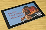 Set of 20, Counter Mats, Non-Skid Rubber Bottom, Countertop Sign Holders for 11 x 17 Images, Slide-in Design