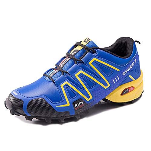 MERRYHE Chaussures De Course Imperméables pour Hommes Sports De Plein Air Trainners Mode Sneakers Chaussures De Camping Antidérapantes pour Randonnée,Blue-42