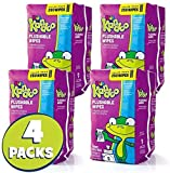 10. Flushable Wipes for Baby and Kids by Kandoo, Unscented for Sensitive Skin, Hypoallergenic Potty Training Wet Cleansing Cloths, 250 Count, Pack of 4