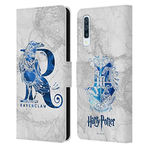 Head Case Designs Officially Licensed Harry Potter Ravenclaw Aguamenti Deathly Hallows IX Leather Book Wallet Case Cover Compatible with Samsung Galaxy A50/A30s (2019)