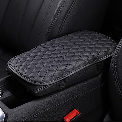 DKIIGAME Car Center Console Cover,Armrest Cover Seat Box Cover for Car,Waterproof Universal Vehicle Console Pad (Black).