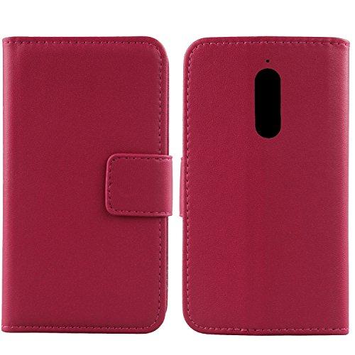Gukas Design Echt Leder Tasche Für Wiko View XL 5.99