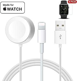 Apple Watch 充電ケーブル iphone 充電ケーブル MPIO 2 in 1 Apple watch &iPhone 兼用充電器 アップルウォッチ マグネット式 USB充電ケーブル 急速 Apple Watch4/3/2/1対応(ホワイト1m)