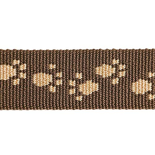Feltmann NoExit Hundegeschirr® - ausbruchssicher, Panikgeschirr, braun mit beigen Pfötchen, Bauchumfang 40-60 cm, 15 mm Bandbreite
